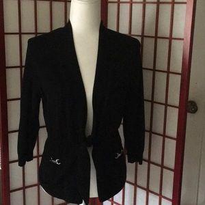 White House Black Market Sweaters - WHBM / Black tie up cardigan / XS